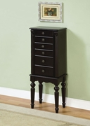 Ebony Jewelry Armoire by Powell Furniture Black Collection 173-502-317
