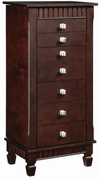 Jewelry Armoire by Powell Furniture Contemporary Merlot Collection 173-383-316