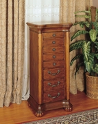Jewelry Armoire by Powell Furniture Wilmington Cherry Collection 173-519-314
