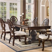 5 Piece Dining Set With Table and 4 Side Chairs by Coaster Fine Furniture Tabitha Cherry Collection 635-101037-BDF1-5