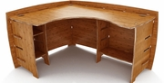 "60"" x 47"" Corner Desk by Legare Furniture Sustainable Collection 739-CDAO-120"