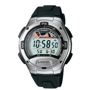 Casio W753-1AVCF 10 Year Battery Tide Graph Watch