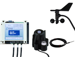 Ocean Controls KTL-279 5 Channel Modbus Interface for Solar / Pyranometer, Multi-Channel Temperature and Wind with LCD Display