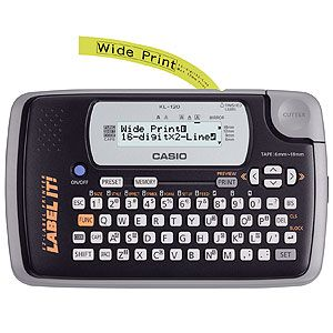 Casio KL120L Label Printer with 2 Line LCD Display