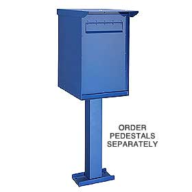 Salsbury industries 4275B 4275BLU Pedestal Drop Box-Regular-Blue