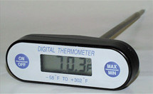 General Tools DT618HF Keypad Waterproof Thermometers, High Temp