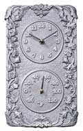 Whitehall Acanthus Combination Clock and Thermometer