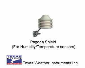 Texas Weather Instruments 006 Pagoda Radiation shield Humidity/Temperature Sensor Combo
