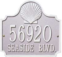 Whitehall Conch Standard Address Plaque (5129, 5130)