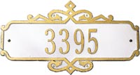 Whitehall Coventry Standard Personalized Address Plaque (1027)