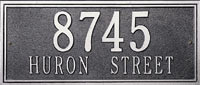 Whitehall Double Line Standard Address Plaque (6101, 6131, 6122, 6136)