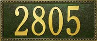 Whitehall Egg and Dart Standard Address Plaque (6102, 6132, 6123, 6137)