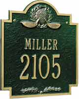 Whitehall Golf Emblem Standard Address Plaque (6013, 6014)