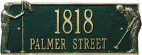 Whitehall Golf Greens Standard Address Plaque (6011, 6012)