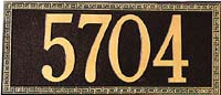 Whitehall Greek Key Standard Address Plaque (6100, 6133, 6124, 6138)