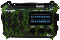 Kaito Electronics KA500-CAMO KA500 Hand Crank / Solar Powered Weather Alert Radio with Reading Lamp - CAMO