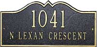 Whitehall Hillsboro Petite Personalized Address Plaque (1182)