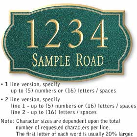 Salsbury industries 1442J Custom Plaque-Signature Series-Classic-Large-Jade Green