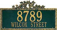 Whitehall Ivy Estate Personalized Address Plaque (2005, 2006, 2105, 2106)