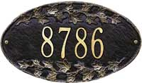Whitehall Ivy Oval Standard Address Plaque (4002)