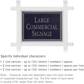 Salsbury industries 1511BS Commercial Sign-Rectangular-White Post-Black Sign-Silver Characters