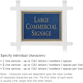 Salsbury industries 1511CG Commercial Sign-Rectangular-White Post-Cobalt Blue Sign-Gold Characters