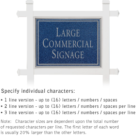 Salsbury industries 1511CS Commercial Sign-Rectangular-White Post-Cobalt Blue Sign-Silver Characters