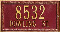 Whitehall Laurel Ribbon Standard Address Plaque (6103, 6130, 6125, 6135)