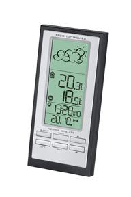 Meade Instruments TE388W Wireless Weather Forecaster with Atomic Clock