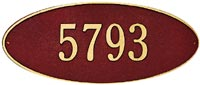 Whitehall Madison Oval Standard Address Plaque (4003, 4007, 4013, 4014)