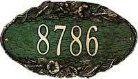 Whitehall Morning Glory Oval Standard Address Plaque (4001)