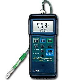 Extech 407228 Heavy Duty pH/mV/Temp Meter with FREE UPS