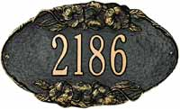 Whitehall Pansy Oval Standard Address Plaque (4006)