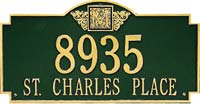 Whitehall Monogram Estate Personalized Address Plaque (5003, 5004, 5103, 5104)