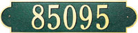 Whitehall Richmond Standard Horizontal Address Plaque (3008)