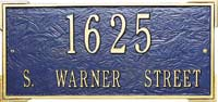 Whitehall Roanoke Estate Address Plaque (1019, 1020, 1121, 1122)