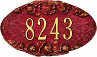 Whitehall Rose Oval Standard Address Plaque (4005)
