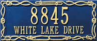 Whitehall Sailor's Knot Standard Address Plaque (5131, 5132)
