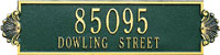 Whitehall Shell Horizantal Standard Address Plaque (5135)