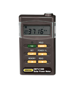 General Tools DBTU1300 Digital Solar Power Meter / Solar Energy Measuring Device
