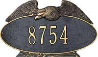 Whitehall Standard Oval Eagle Personalized Address Plaque (2035, 2037)