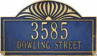 Whitehall Sunburst Estate Personalized Address Plaque (2001, 2002, 2101, 2102)