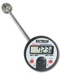 Extech 392052 Flat Surface Dial Stem Thermometer