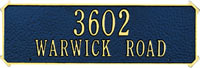Whitehall Two-sided Rectangle Standard Address Plaque (1191, 1180)