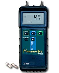 Extech 407910 Heavy Duty Differential Pressure Manometer (NIST Certified - allow 3 weeks for testing)