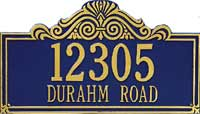Whitehall Villa Nova Standard Personalized Address Plaque (1013, 1014, 1115, 1116)