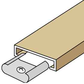 Salsbury industries 2013 Trim Kit-For up to 3 Columns Of Brass Mailboxes-Beige