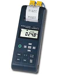 Extech 422324 Thermocouple Thermometer Printer, Dual Input with Alarm