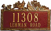 Whitehall Woodland Cardinal Standard Personalized Address Plaque (1125, 1126)