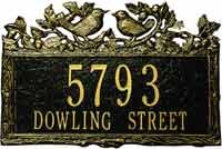 Whitehall Woodland Wren Standard Personalized Address Plaque (1129, 1130)